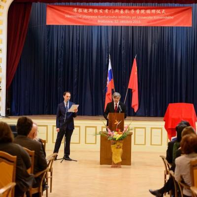 Otvárací ceremoniál Konfuciovho inštitútu pri UK (9)