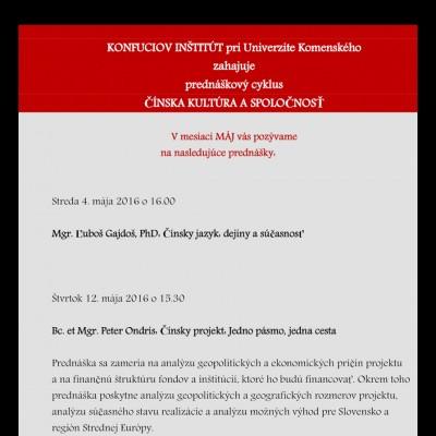 Prednáškový cyklus Čínska kultúra a spoločnosť (1a)